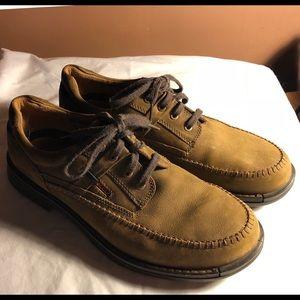 Ecco brown suede leather men's shoes 46